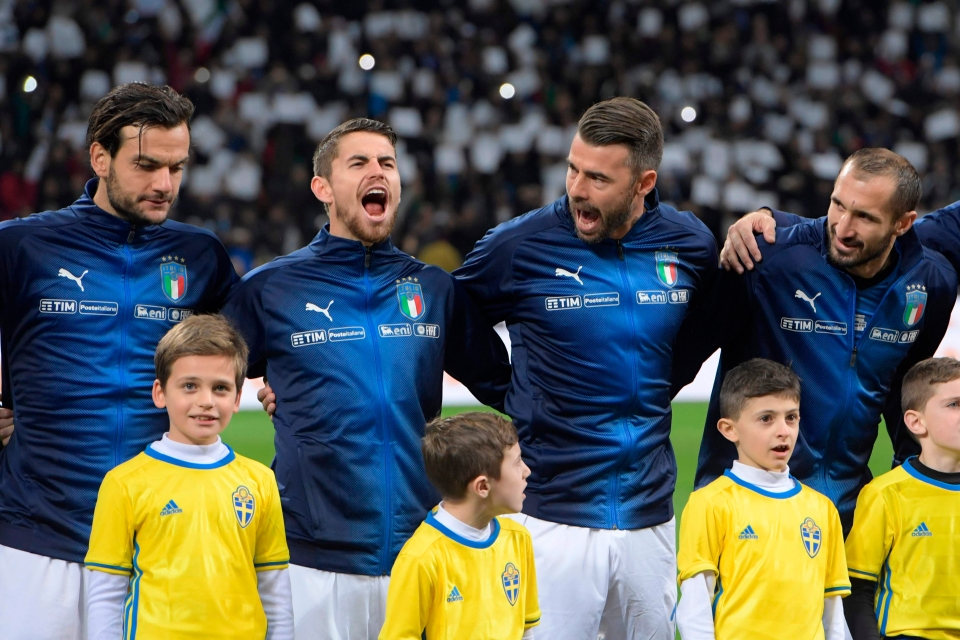 Brazilian-born Jorginho surprised his team-mates with a particularly loud rendition of the anthem