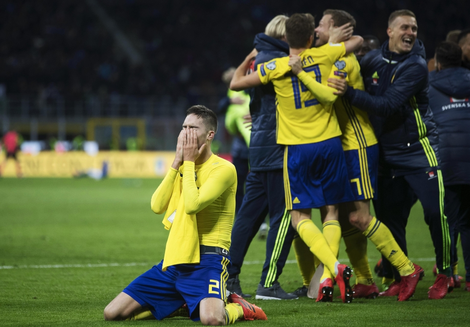 Sweden pulled off a huge shock by beating Italy
