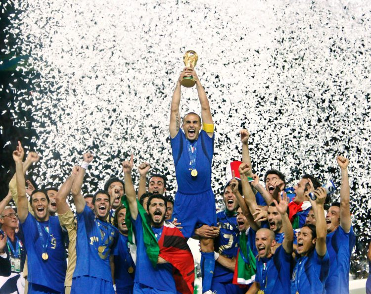 Italy won the World Cup in 2006 – beatng France on penalties
