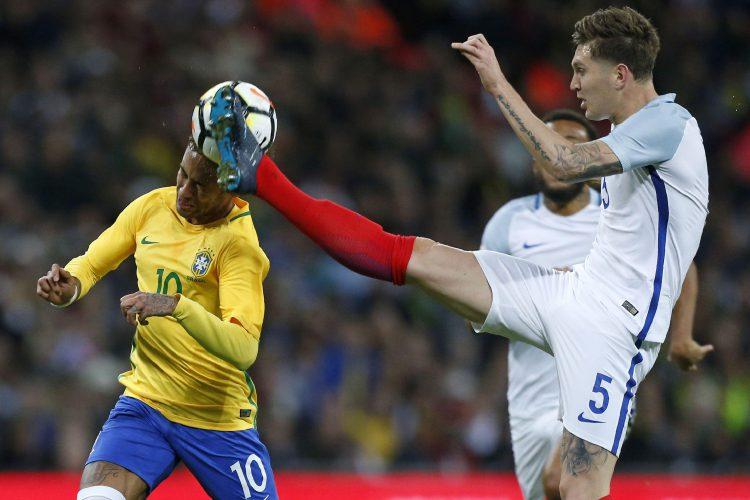 England's tactics to keep Neymar quiet in a friendly