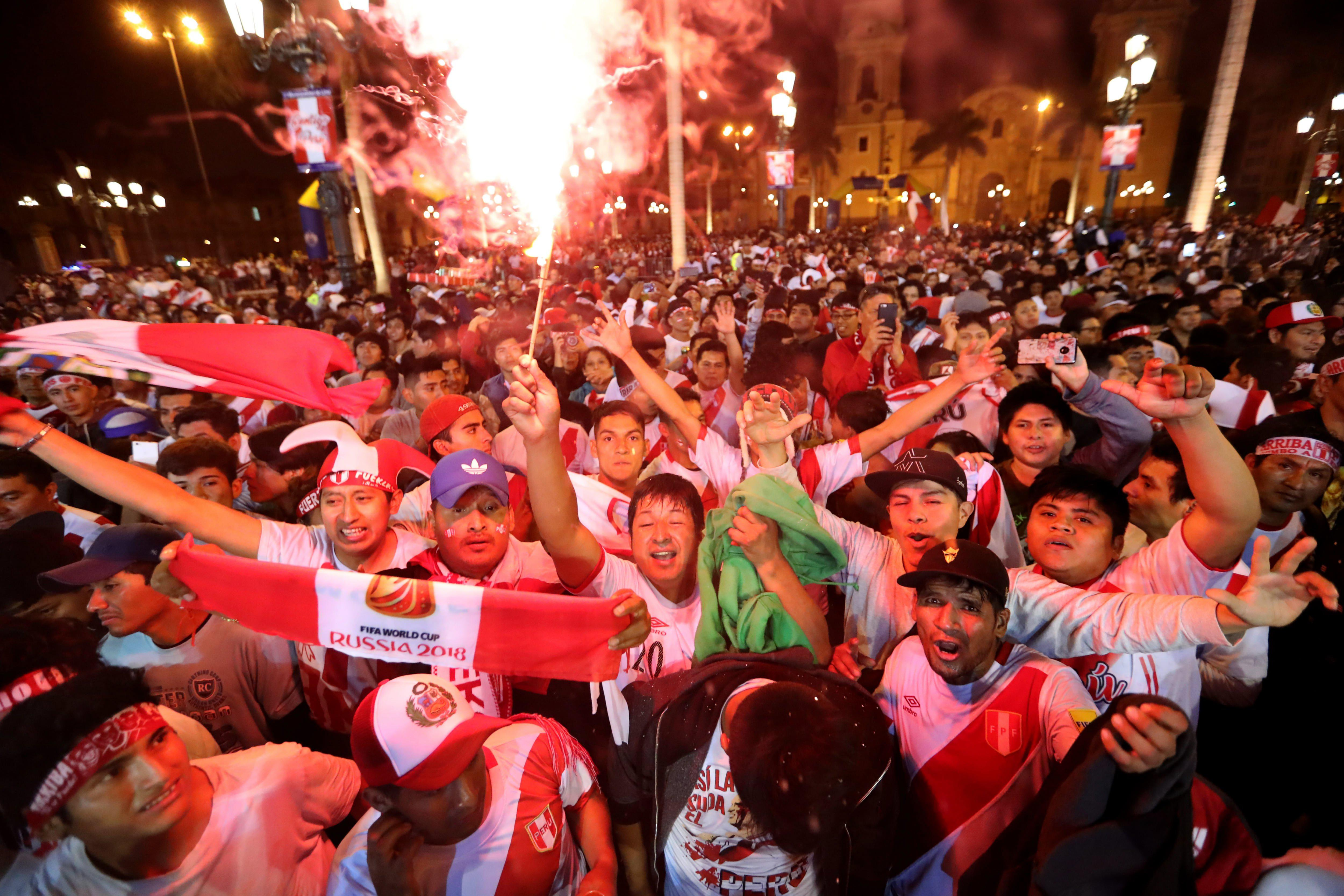 Peru fans partied hard after they secured passage to next summer's World Cup