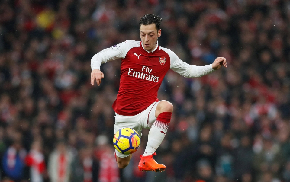Ozil went off to a standing ovation against Spurs
