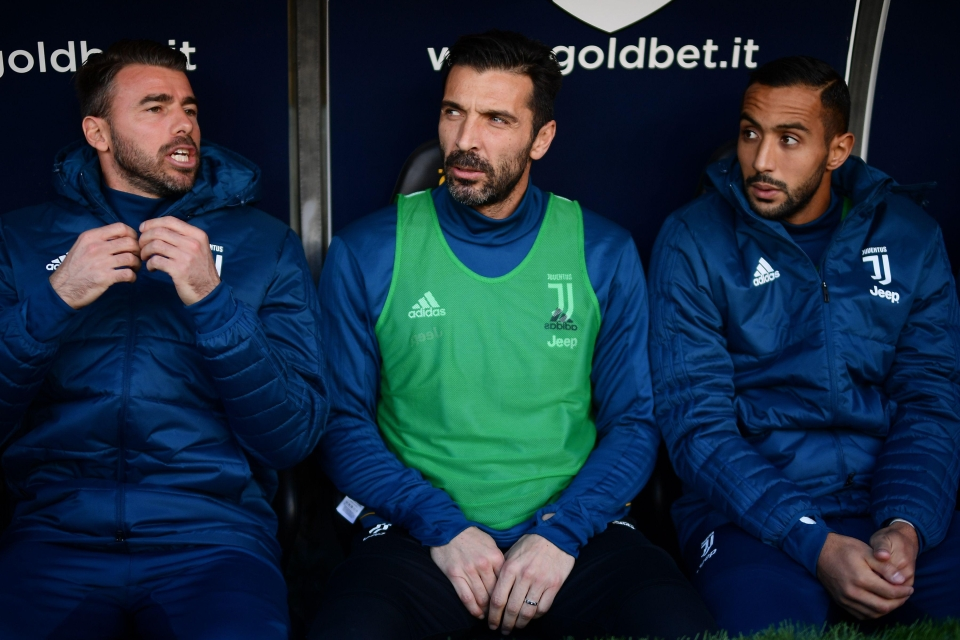 Buffon on the bench – a rare sight