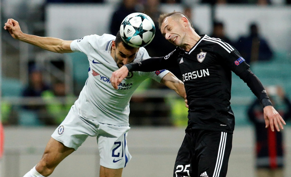 Zappacosta in action for Chelsea