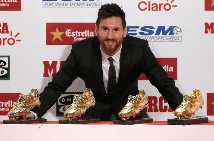 Where do you keep four golden shoe trophies?