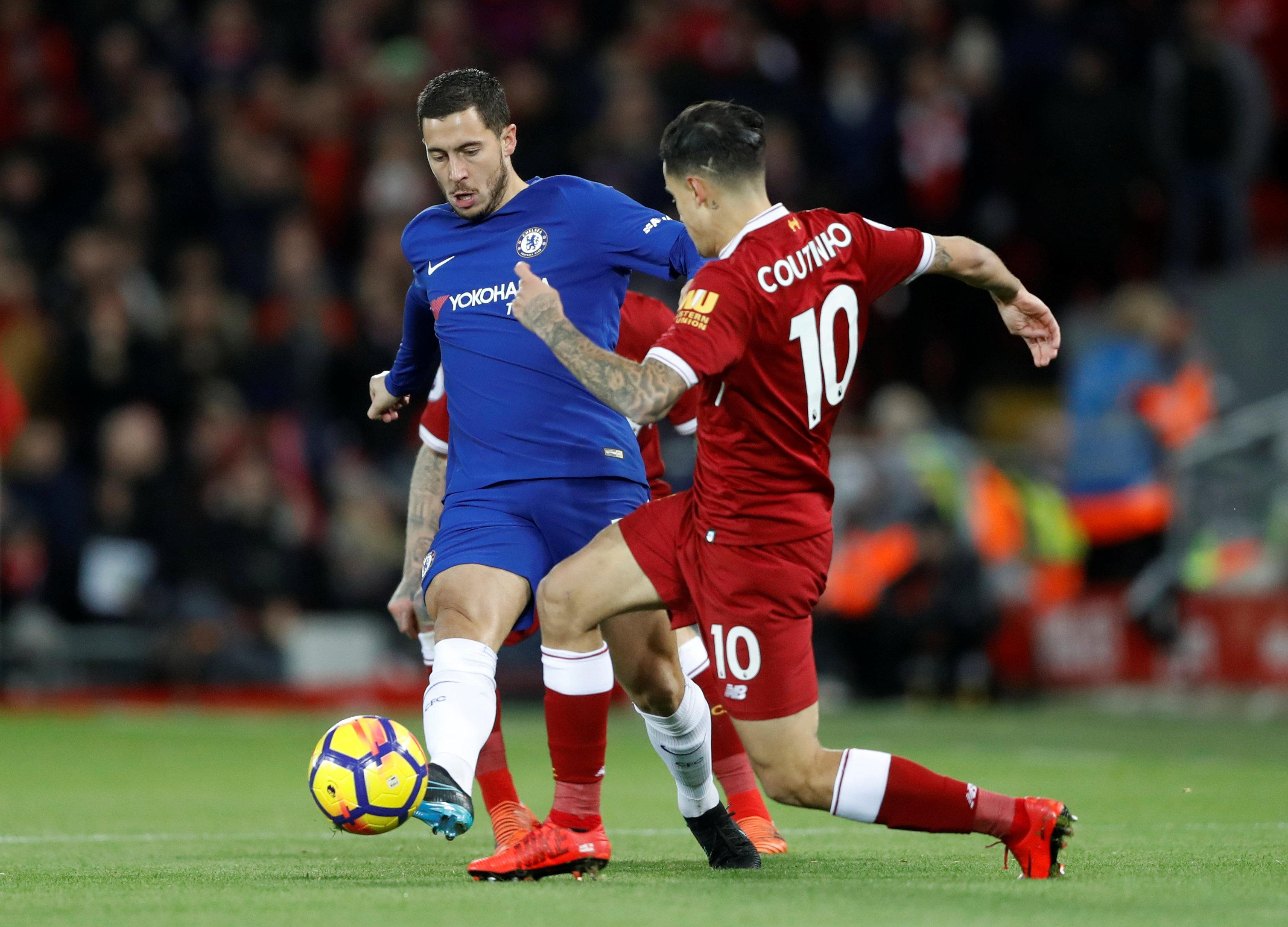 Hazard outshone Coutinho on Saturday