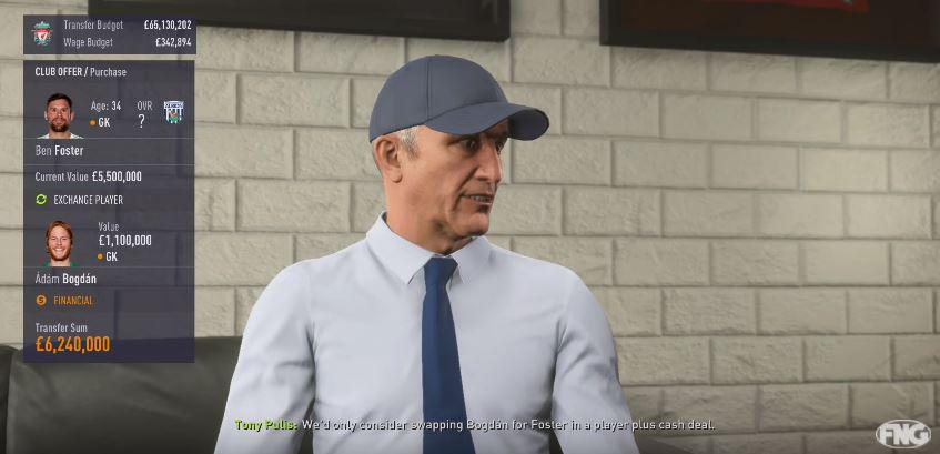 The West Brom manager wears a cap in the game… despite being indoors