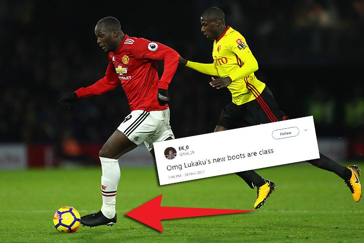 539a61fcf718 People are loving the boots Romelu Lukaku laced up against Watford