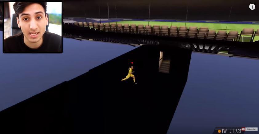The bizarre glitch allows you to explore the practice arena