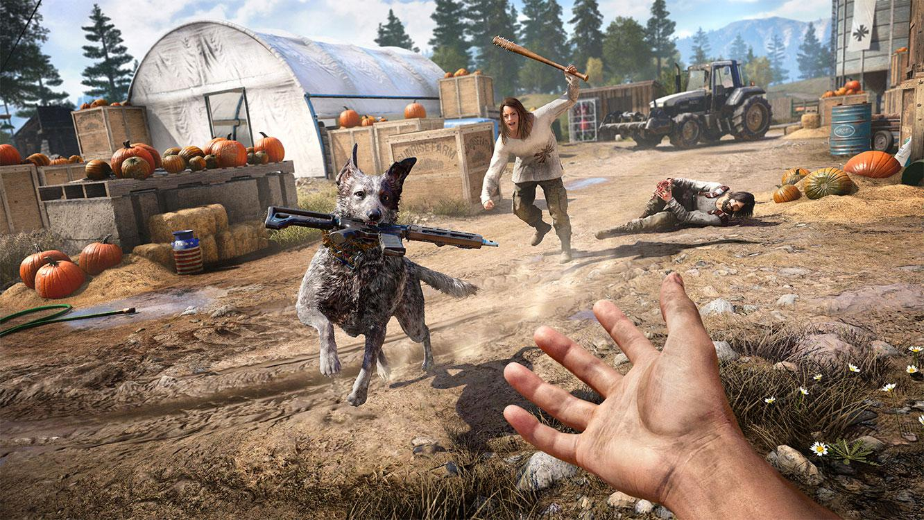 Boomer the dog is just one of the allies you can call to help you – he even retrieves weapons