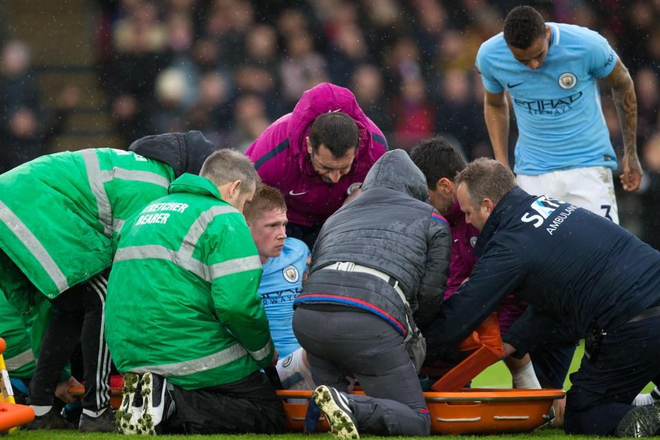 Medical staff put him onto a stretcher