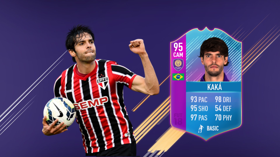 This mocked-up Kaka card would make the Brazilian one of the game's deadliest players