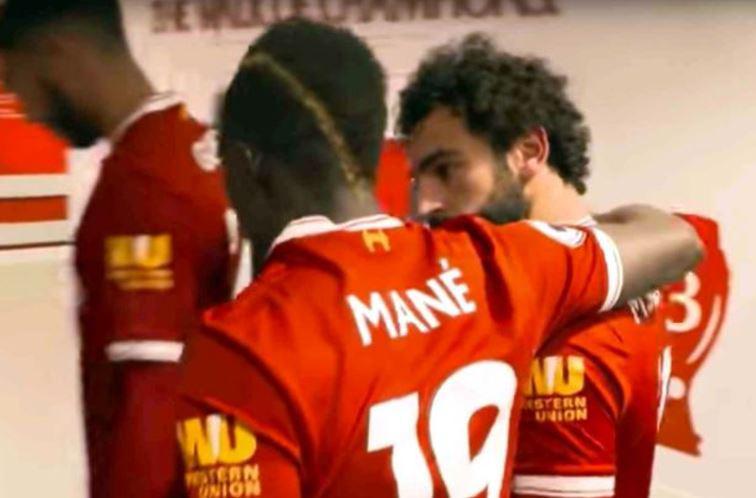 Mane and Salah exchange words