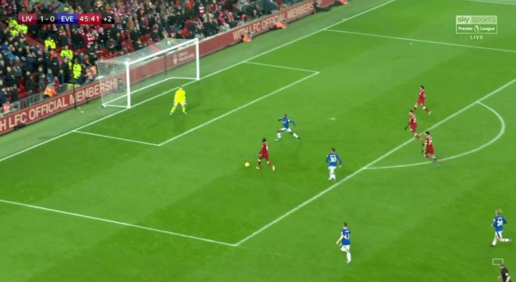 At this point every single Liverpool fans was screaming at the television