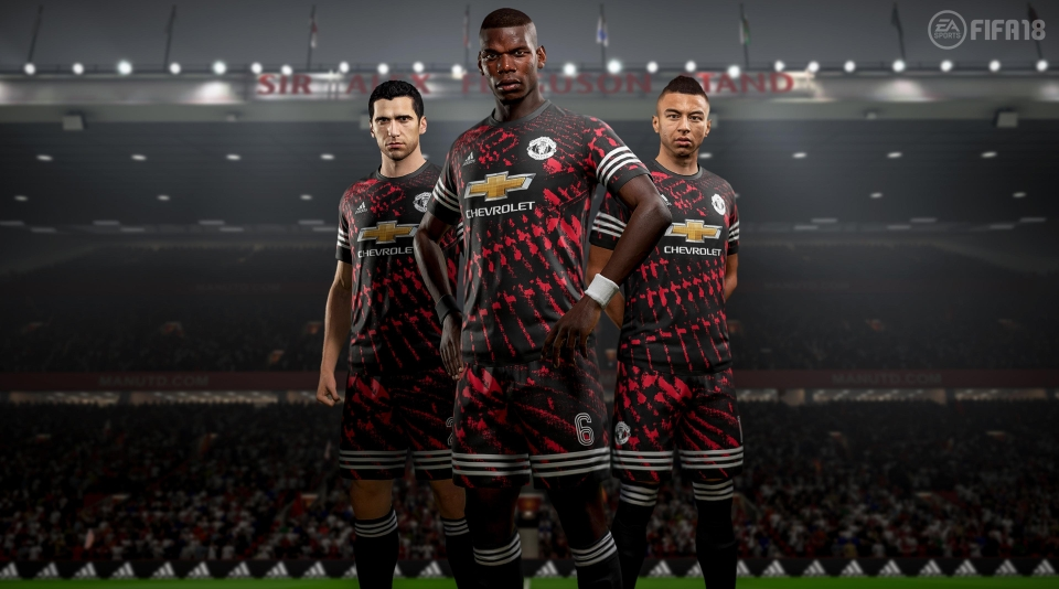 745804b89 Manchester United players model the new kit in the game – although we ll  never