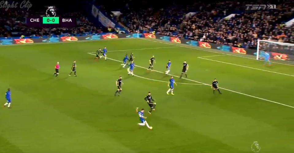 Azpilicueta curled a beauty of a cross in for Morata