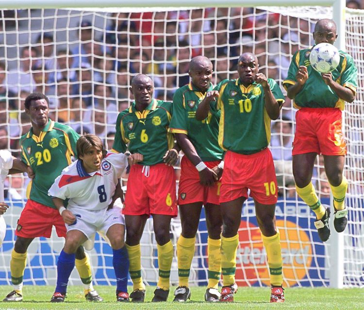 Olembe lost out when it came to lining up in height order