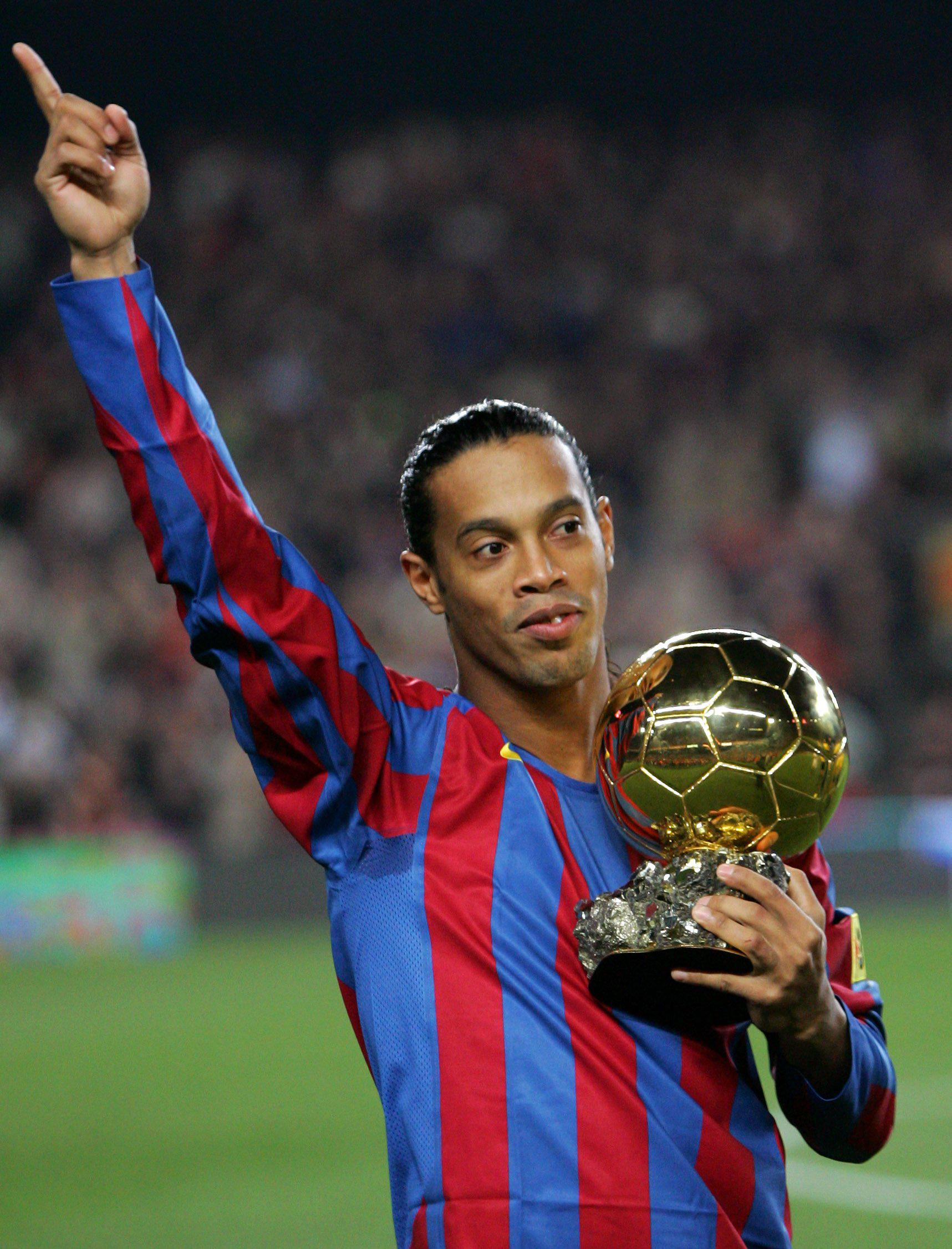 The only Ballon d'Or Ronaldinho would ever win