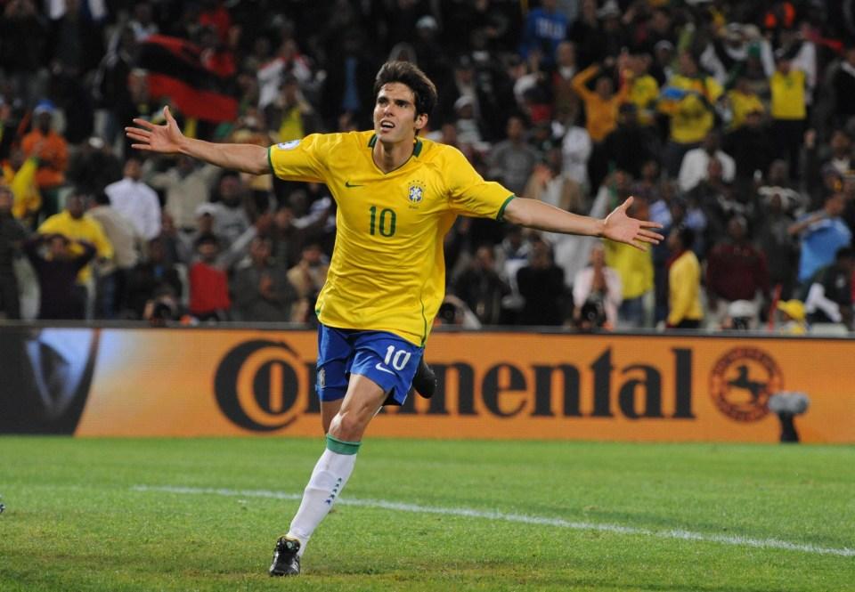 Kaka has 92 caps for Brazil