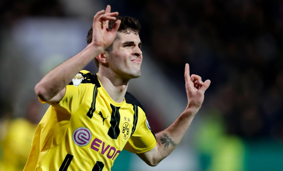 Chrtian Pulisic is reportedly a target for Manchester United