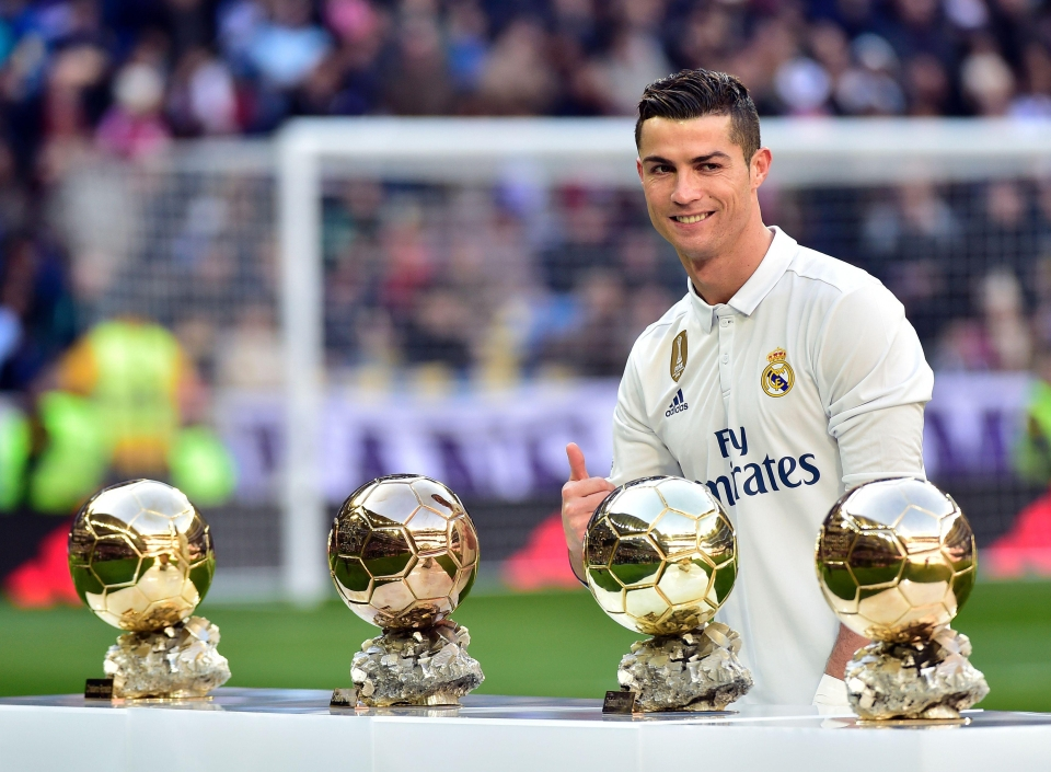 Ronaldo has added to his four Ballon d'Or awards