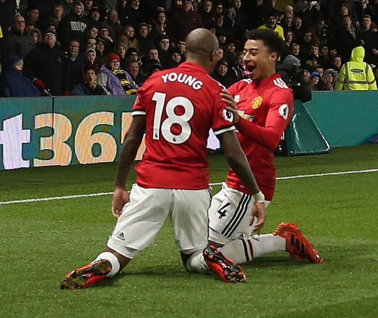 Ashley Young and Lionel Jesse