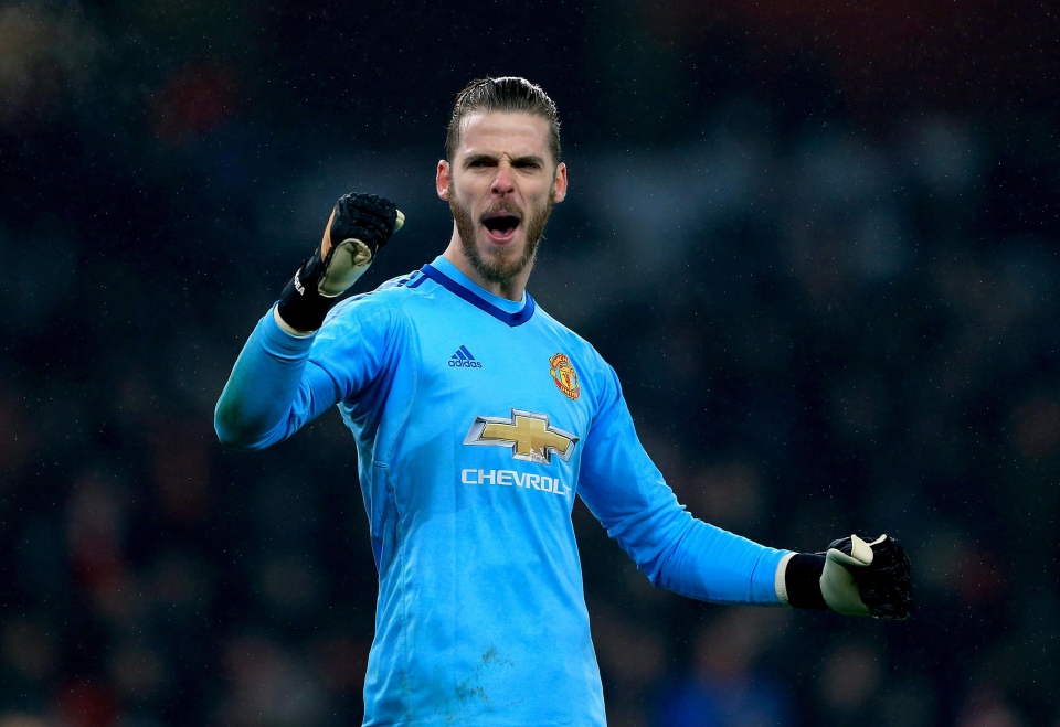 David De Gea equalled the Premier League record for most saves in a match against Arsenal