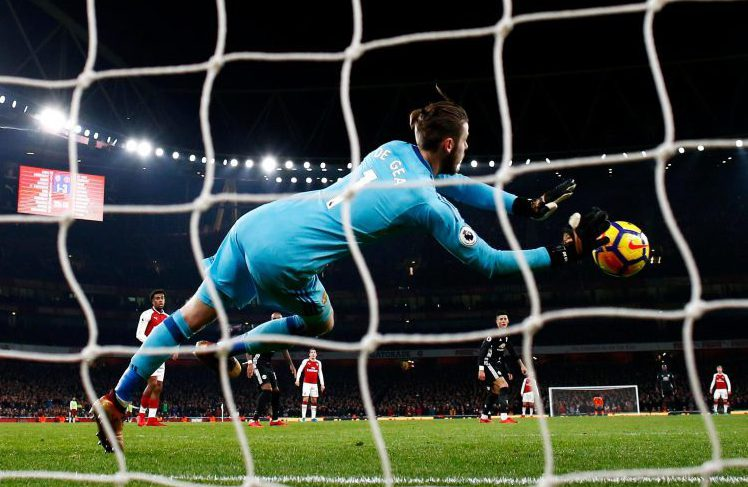De Gea made this and another 13 saves on Saturday