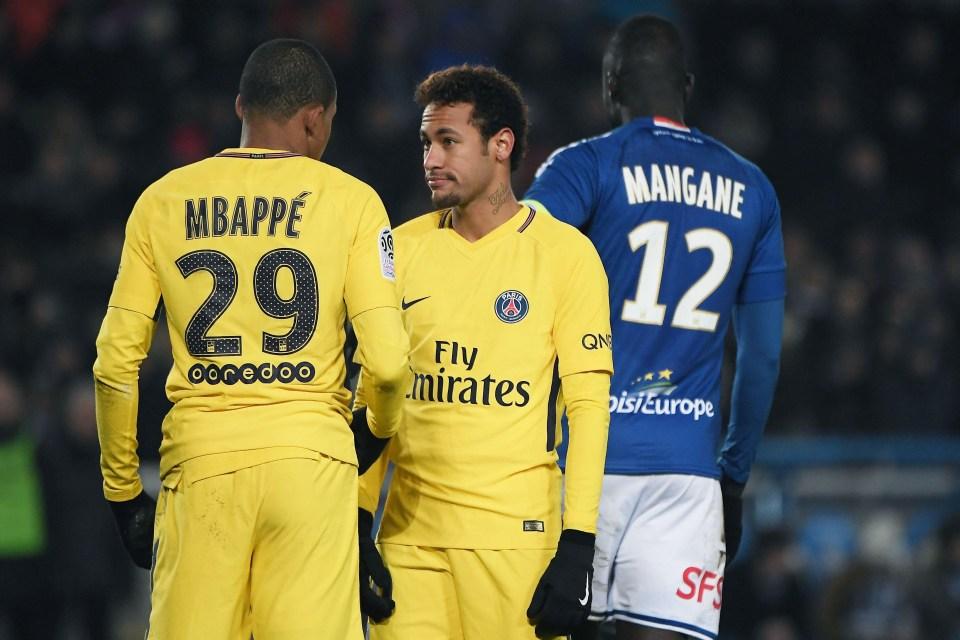 Mbappe and Neymar were beaten 2-1