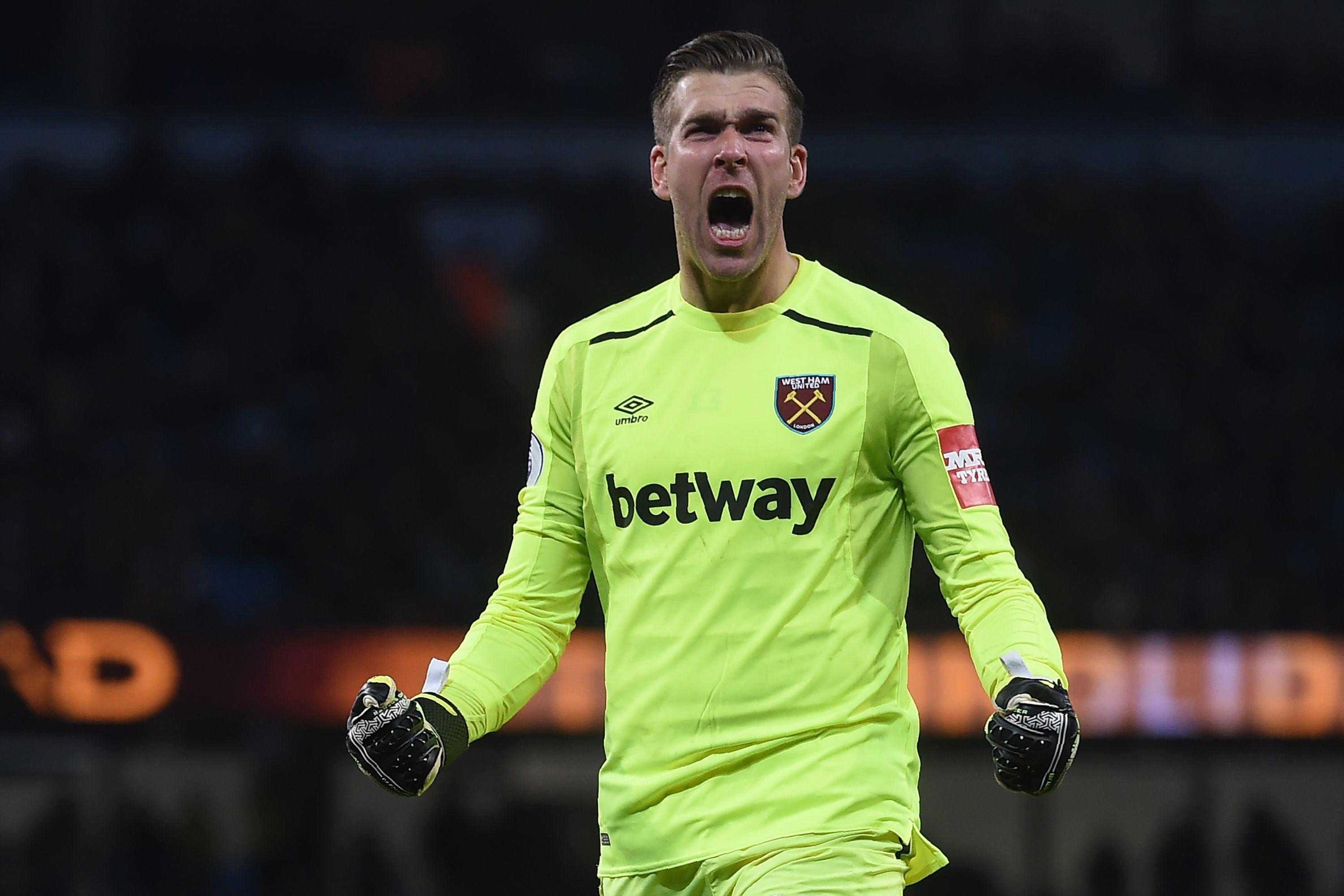 Adrian impressed in West Ham's 2-1 defeat at Manchester City