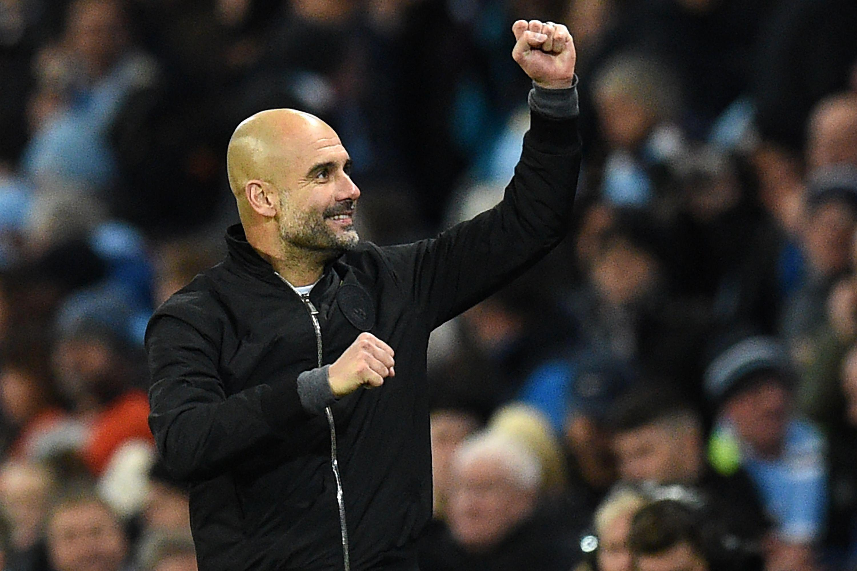 Pep Guardiola has little to be down in the dumps about this season
