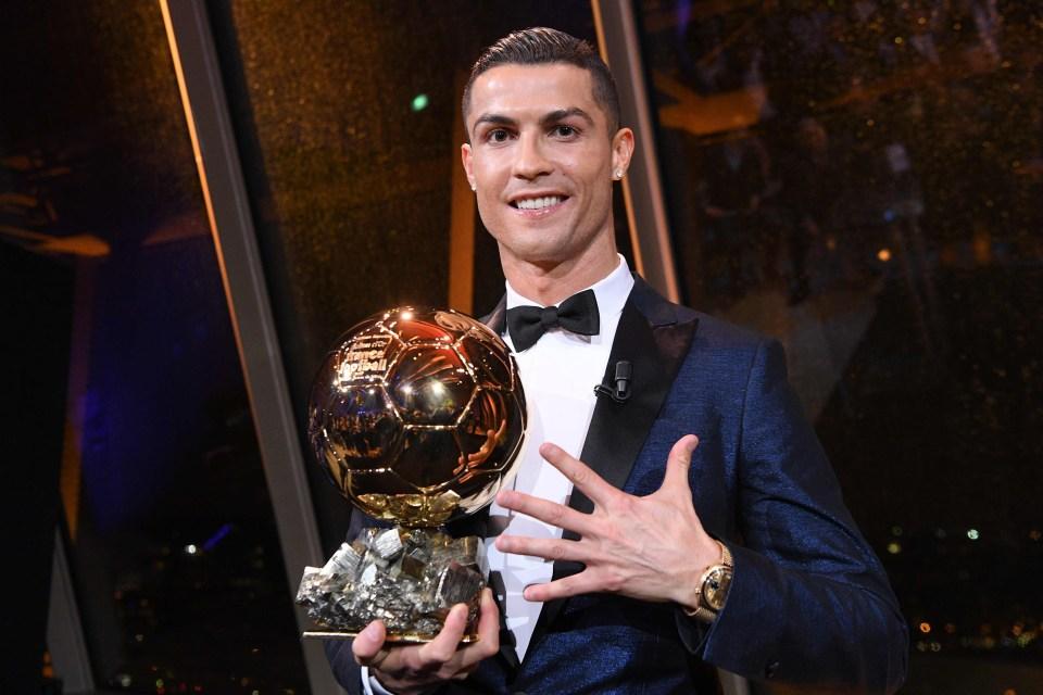 Five times for Ronaldo