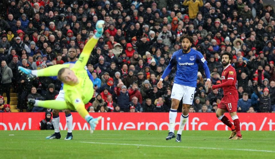 Salah curls home a beauty against Everton