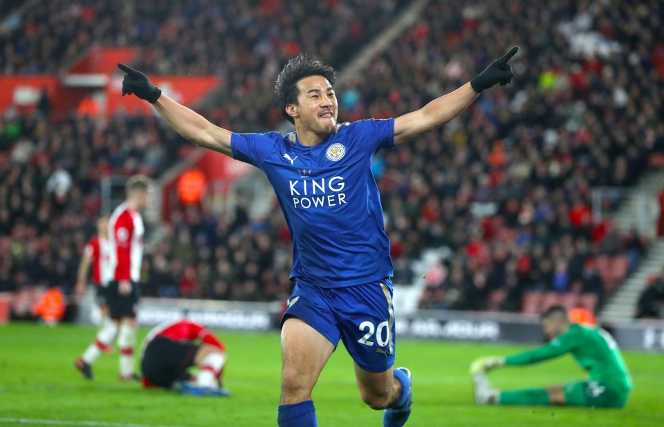 Shinji Okazaki will be hoping to continue his scoring form against the Eagles