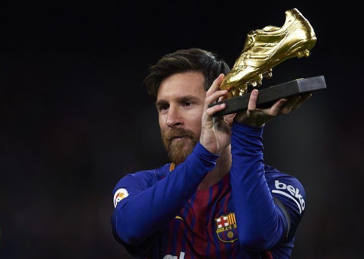 Messi with his favourite trophy