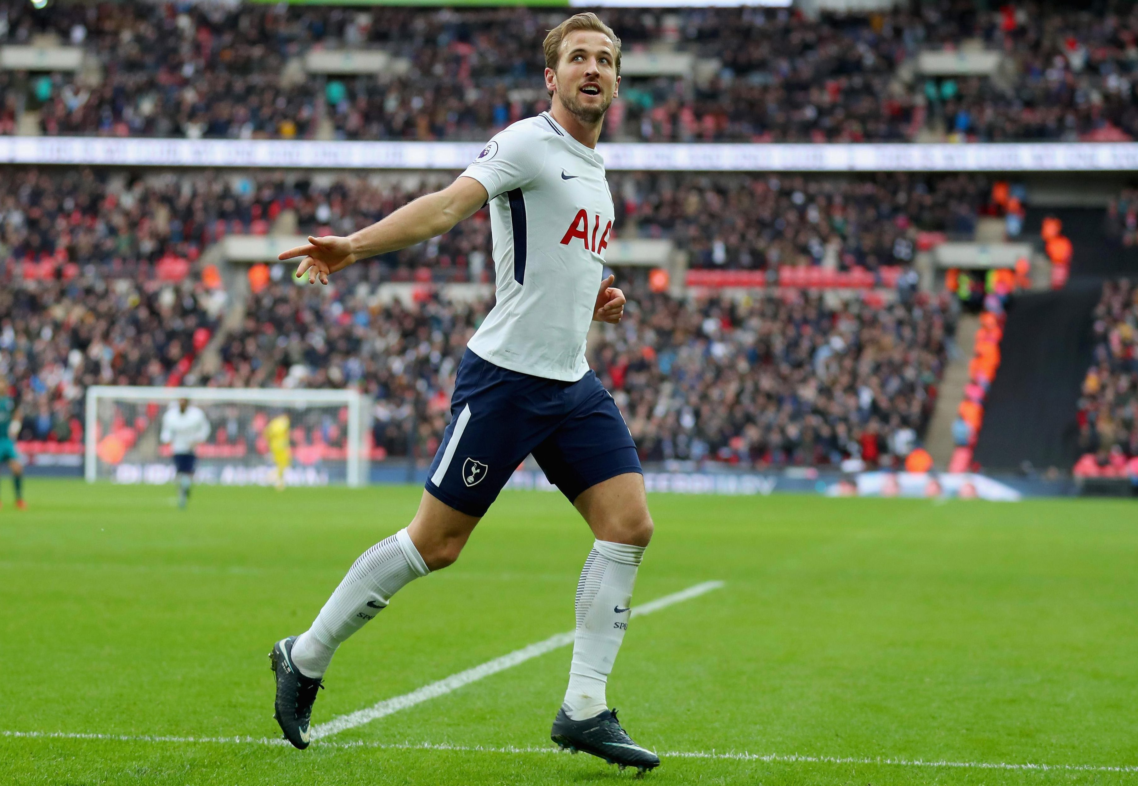 Unsurprisingly Harry Kane is capable of scoring a hat-trick when playing against holograms