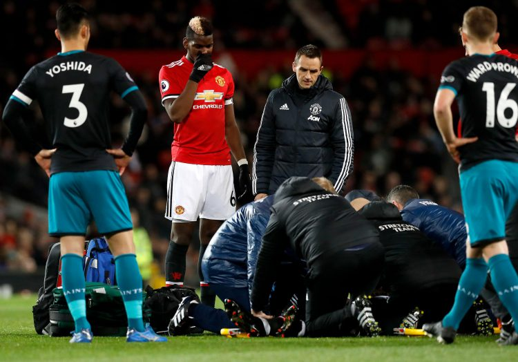 Ugly scenes at Old Trafford