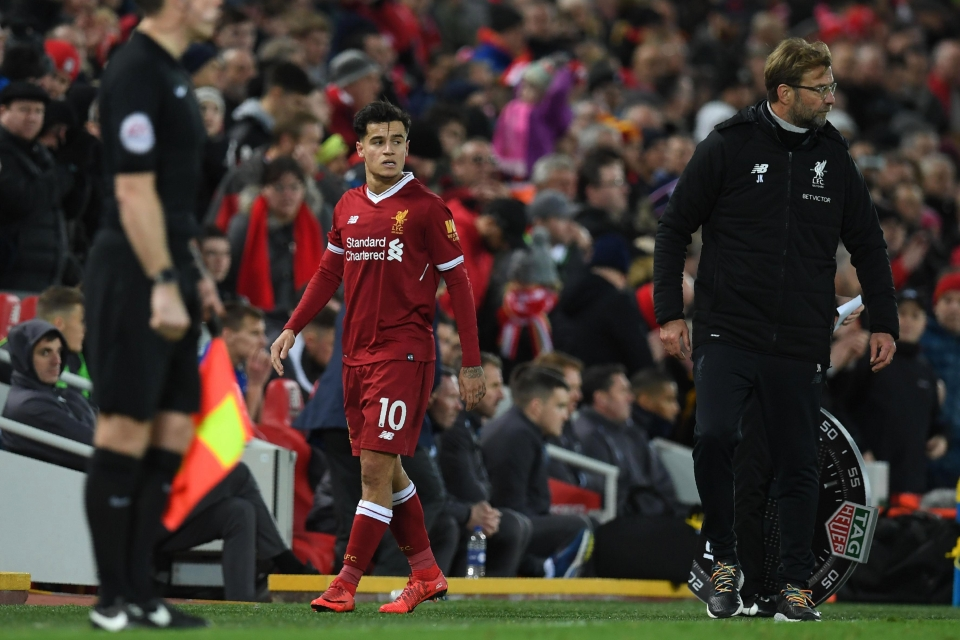 Philippe Coutinho featured in Liverpool's win over Leicester on Saturday