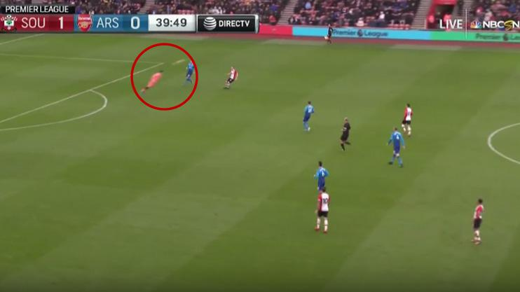 Cech has to improvise outside his area