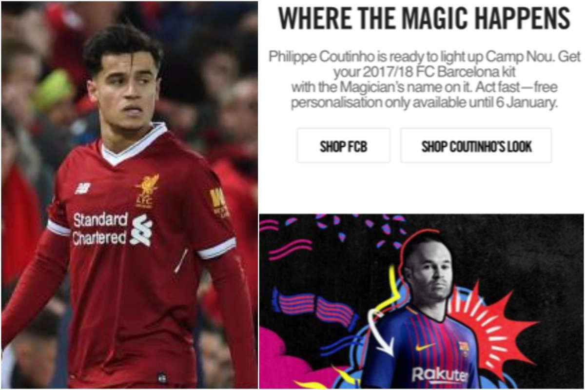 8e129f9bd63 Have Nike accidentally confirmed Philippe Coutinho s transfer to Barcelona