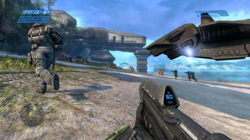 Here's the remastered version of Halo (2011) – and, although visuals are improved, it's got nothing on how I remembered the scene playing out