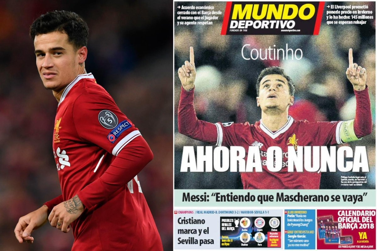 Liverpool Calendario.Liverpool Star Philippe Coutinho Set For Five Year Barcelona