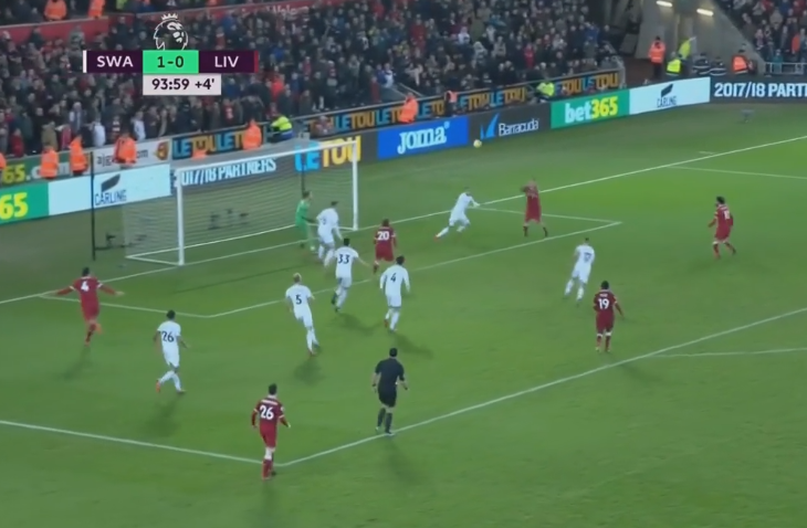 And he crosses it in beautifully for the Brazilian