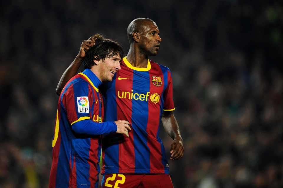Abidal and Messi were team-mates for six seasons