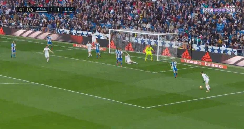 Bale retrieved the loose ball