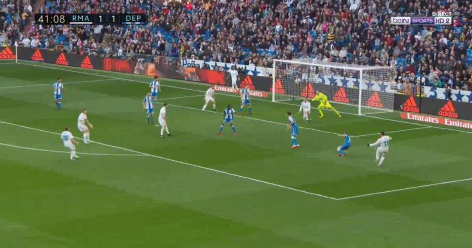 And didn't seem interested in Bale's shot as it whistled past him