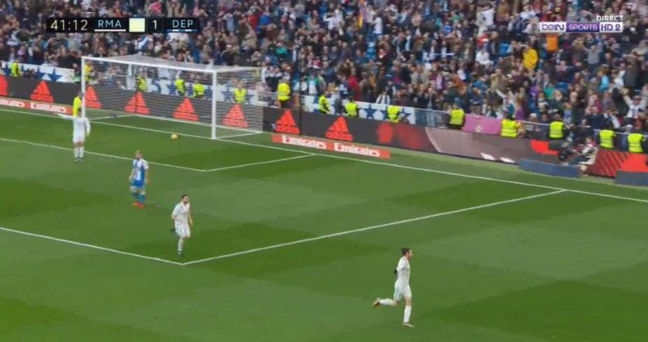 Ronaldo pointed and yelled at the ref as Bale wheeled off to celebrate putting his side ahead