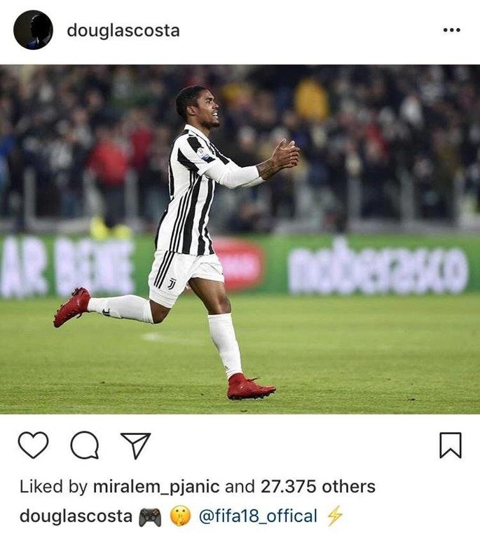 Costa tries to get EA's attention on Instagram following his superb performance