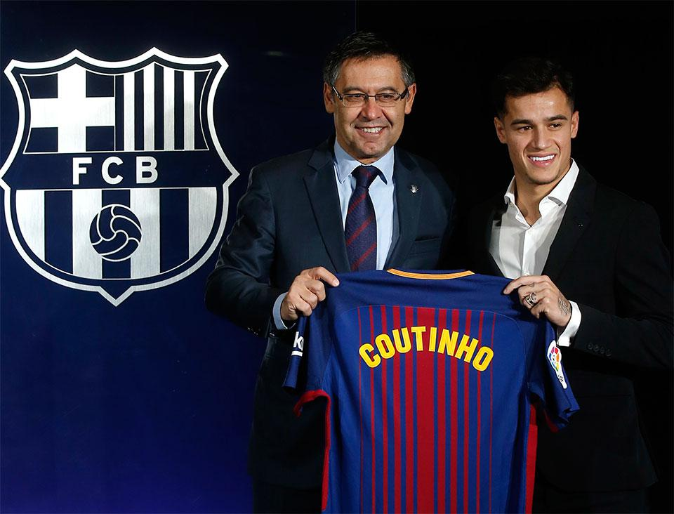 Coutinho hasn't been assigned a number yet