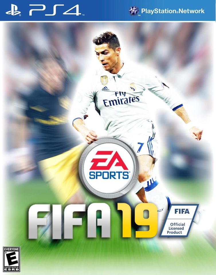 Our mocked up version of the FIFA 19 cover with Ronnie